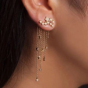Jewelry - Gold Shooting Star Drop Earrings